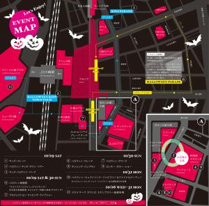 川崎ハロウィン2016地図