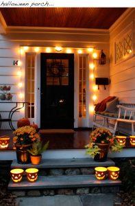 ハロウィン装飾ライトアップ
