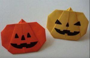 折り紙でハロウィンのカボチャ