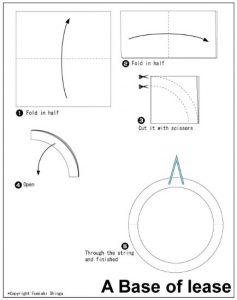 折り紙で簡単リース作り方