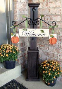 ハロウィン装飾ウェルカムボード