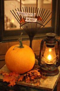 ランタンとかぼちゃでハロウィン装飾