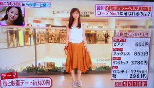 今日2016年9月2日、ヒルナンデスの着こなしガールズコレクション堀田茜